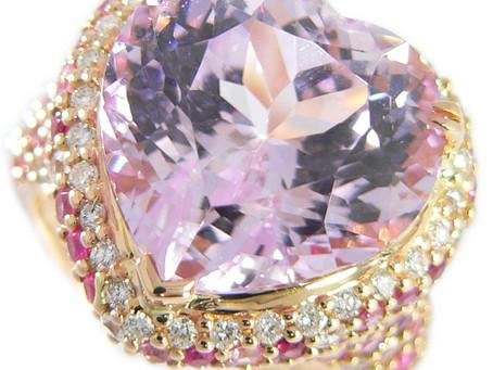 須磨のI様から宝石,指輪,クンツァイト,カラーストーン,ダイヤモンド,リング,ハートシェープを買い取り