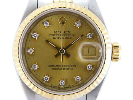 高倉台のT様からロレックス,ROLEX,デイトジャスト,69173G,レディース,YG,SS,10Pダイヤモンド,を買い取り