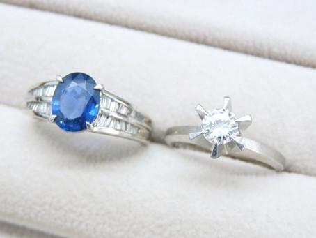 名谷のU様からダイヤモンドとサファイアの指輪を買取|須磨区・垂水区で売るなら買取E-brand(いーぶらんど)へ