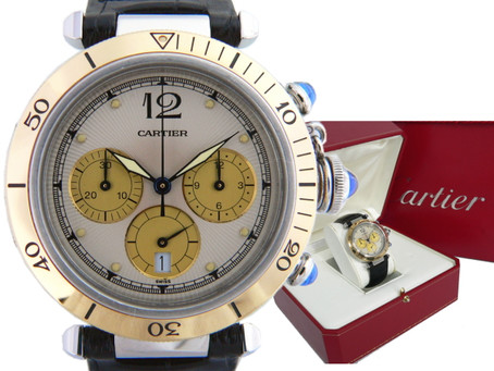 垂水ジェームス山のN様からカルティエ,腕時計,古いパシャ,クロノ,コンビ,Cartierを買い取り