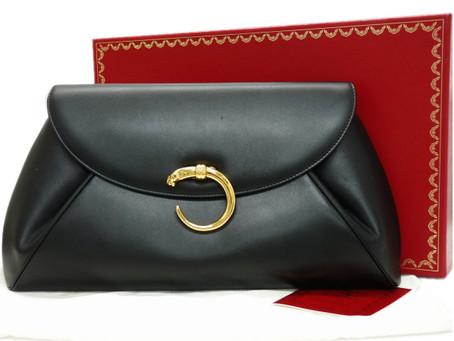 須磨のK様から昔のカルティエ,クラッチバッグ,パンサー,レザー,Cartierを買い取り