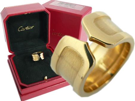 新長田のW様からカルティエ,Cartier,2Cリング,YG,指輪,750,LMを買い取り