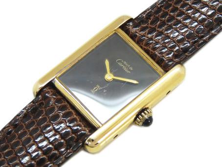 東須磨のH様から古いカルティエの時計,マスト,タンク,ヴェルメイユ,Cartier,手巻き腕時計を買い取り