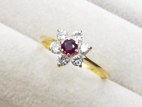 須磨のI様から金のルビー指輪を買い取り|須磨区・垂水区で売るならE-brand(いーぶらんど)へ