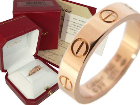 須磨寺のR様からカルティエ,Cartier,ミニラブリング,ピンクゴールド,指輪,PG,を買い取り