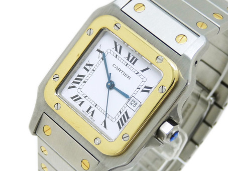 月見山のG様からカルティエ,Cartier,時計,サントスガルベ,K18,SS,自動巻き,を買い取り