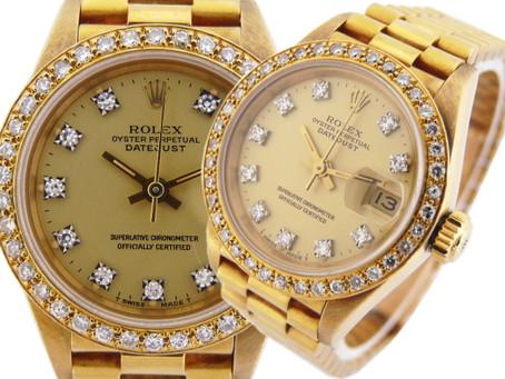 垂水のY様からロレックス,デイトジャスト,金無垢,アフターダイヤモンド,ROLEX,10P,69178Gを買い取り