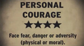Let's talk about values… Personal Courage