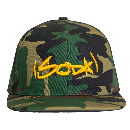 "SODA ""Classic"" Snapback Hat - Camo/Gold"