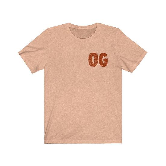 """FatRat Da Czar """"OG"""" T-Shirt - HEATHER PEACH/RUST"""