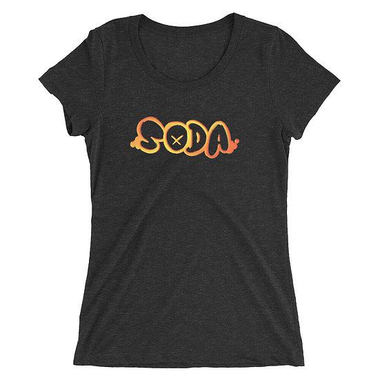 "SODA ""Spraycan"" Women's Tee - Black/Fire"