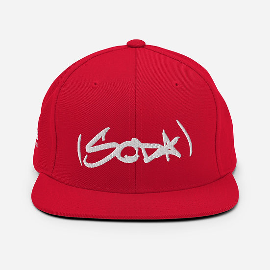"SODA ""Classic"" Snapback Hat - Red/White"