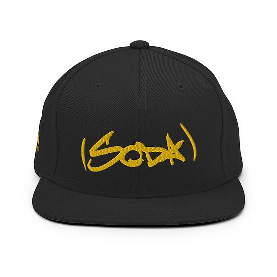 "SODA ""Classic"" Snapback Hat - Black/Gold"