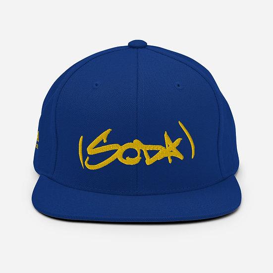 "SODA ""Classic"" Snapback Hat - Royal/Gold"