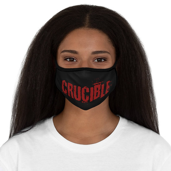 "FRDC ""CRUCIBLE"" Fitted Polyester Face Mask - Black/Garnet"