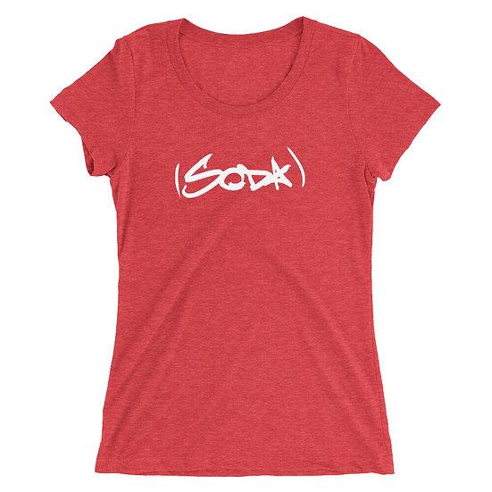 "Ladies' SODA ""Classic"" T-Shirt - Red/White"