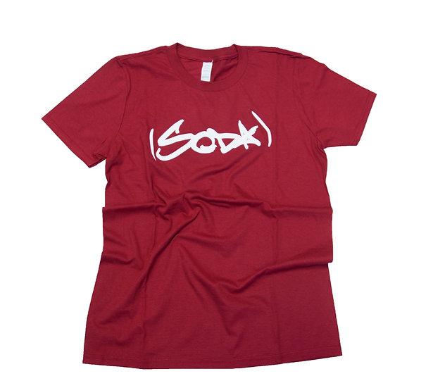 """SODA """"Classic"""" T-Shirt - Garnet/White"""