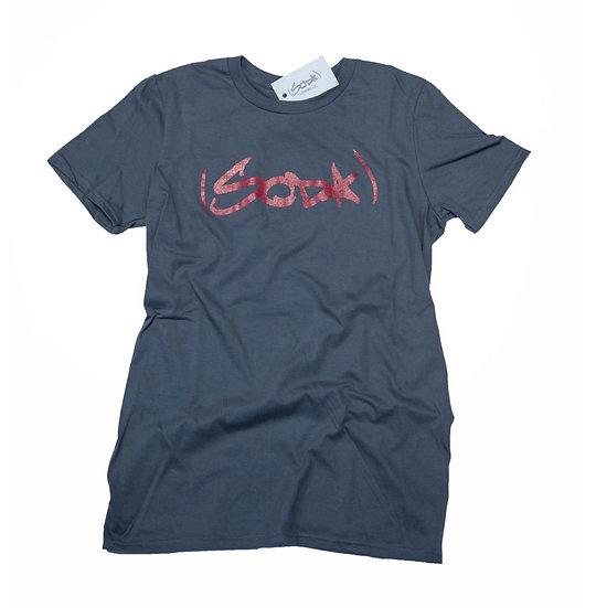 "SODA ""Classic"" T-Shirt - Charcoal/Garnet"