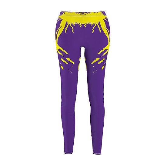 Women's ETHX Leggings - PURPLE/YELLOW