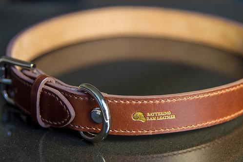 2.5cm wide stitched collar