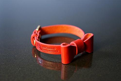 1cm wide red ribbon bracelet
