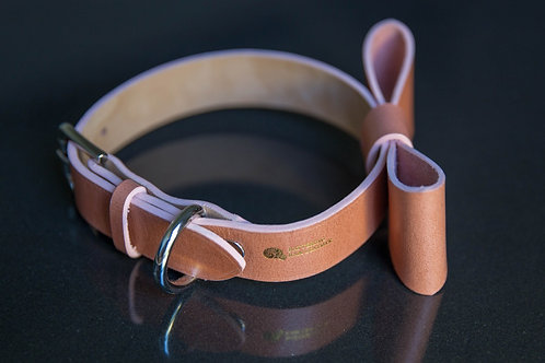 2.5cm wide basic collar with oversized ribbon