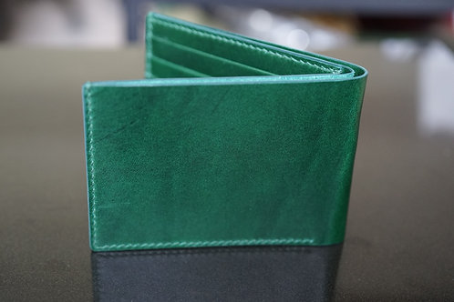 Green Italian vegetable cow leather half wallet (Buttero)