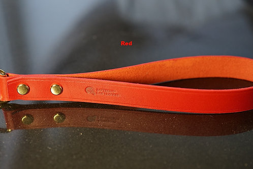 Red leather handle with chain leash