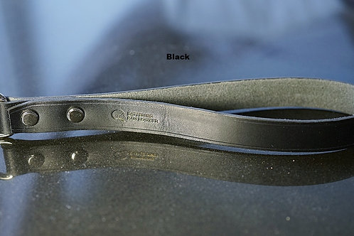 Black leather handle with chain leash