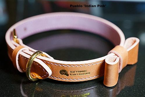 1.9cm wide stitched collar with ribbon