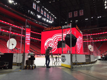 Photoshoot at Red Wings Arena