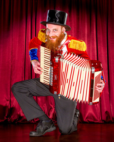 Ring Master with an Accordion