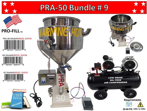 Bundle #9 PRA-50 #0801010034739 + Heated Hopper #080101034746
