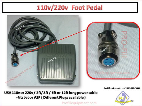 Foot Pedal / Foot Switch Fits Jet & ASP Models