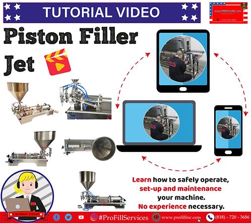 Tutorial Video (Piston Filler Jet)