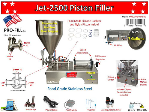 Jet Piston Filler 2500 A&E Rental