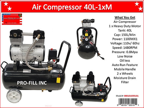 Air Compressors / Low Noise 40L-1xM :#080101035101