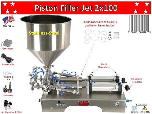 Jet Models Double Head (Air & Electric) Piston Filler/ Filling Machine