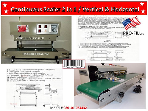 Continuous Sealers 2 in 1 (Vertical & Horizontal)  #080101034432