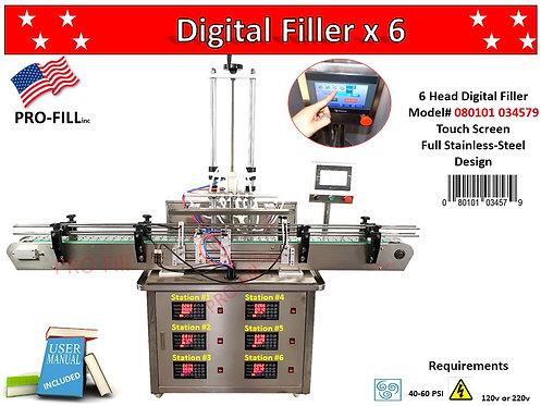 Digital Filler 6x Head#080101034579 Digital Filler w/Air Compressor#080101034241