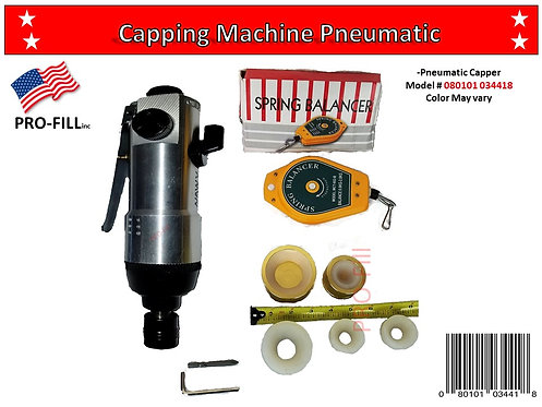 Pneumatic Manual Capping Machine #34418 & Air Compressor 2xM #34241