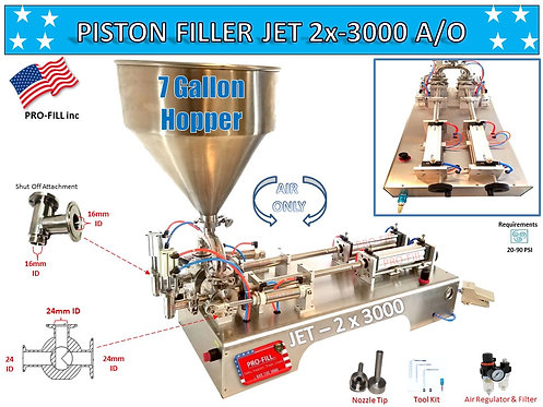 Jet Double Head Piston Filler (Air Only)