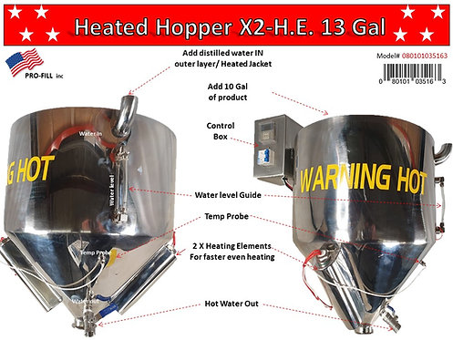 Heated Hopper x2 H.E. (13 Gallon)