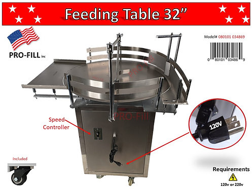 Feeding Table Rental