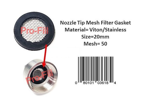 Nozzle Tip Mesh Filter Gasket