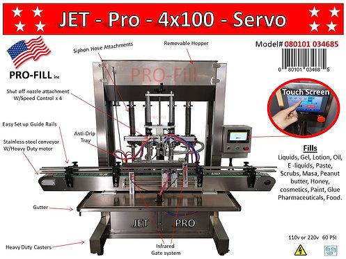 JET-PRO SERVO'S 4 Heads Automatic Piston Fillers