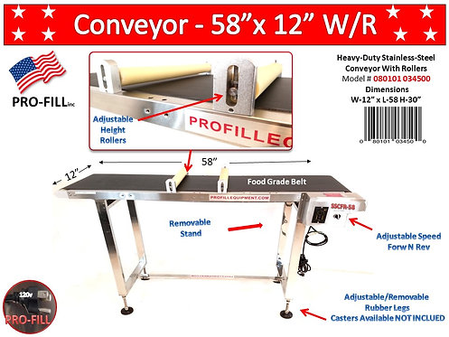 Conveyor / Food Grade With Rollers