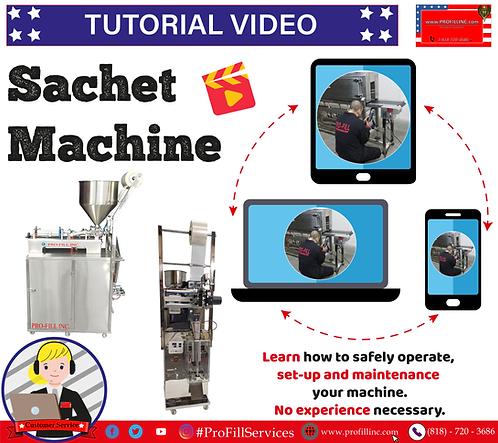Tutorial Video (Sachet Machines)