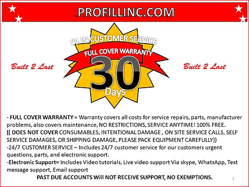 Need Warranty For Your Machine?