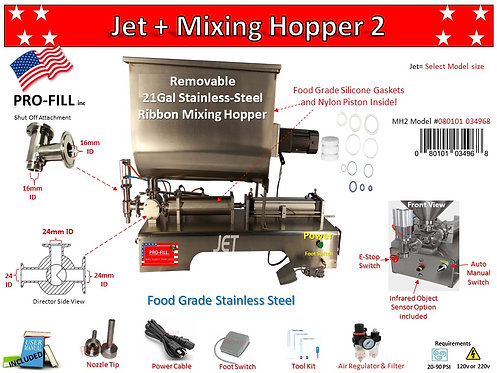 Jet Piston Filler & Mixing Hopper 2